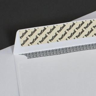 Белый офсет, 100 гр/м2, Прямой клапан, Лента, Повышенной плотности спецклей + отрывная силиконовая лента, повышенная безопасность, спец. запечатка