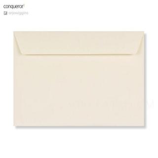 , 120 гр/м2, Прямой клапан, Лента, Клапан по короткой стороне, Подарочные Кремовая бумага Conqueror Laid Cream 120 гр. (UK)