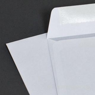 Белый офсет, 80 гр/м2, Прямой клапан, Декстрин, С окном справа внизу 45х90 мм.