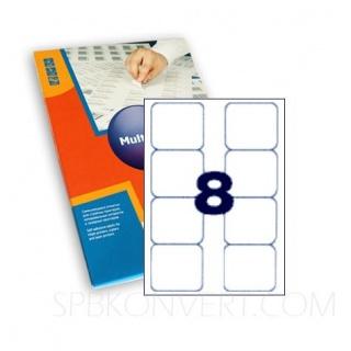 8 наклеек на листе А4. В упаковке 100 листов формата А4. Multilabel (Испания)