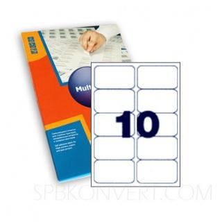 10 наклеек на листе А4. В упаковке 100 листов A4. Multilabel (Испания)