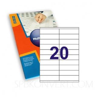 20 наклеек на листе А4. В упаковке 100 листов A4. Multilabel (Испания)