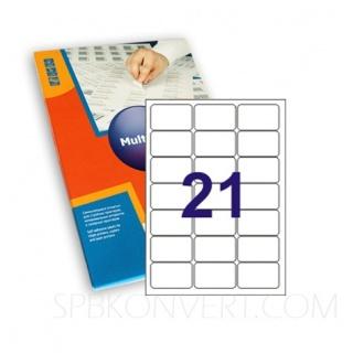 21 наклейка на листе А4. В упаковке 100 листов формата А4. Multilabel (Испания)