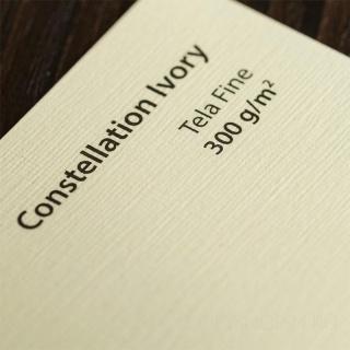 CONSTELLATION IVORY tela fine SRA3 300 г/кв.м дизайнерский картон в листах 32*45 см