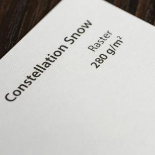 CONSTELLATION SNOW RASTER SRA3 280 г/кв.м дизайнерский картон в листах 32*45 см