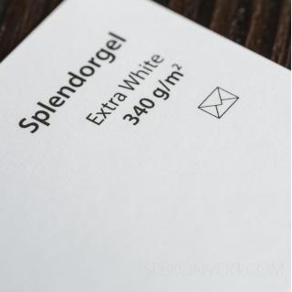 SPLENDORGEL EXTRA WHITE SRA3 300 г/кв.м дизайнерский картон в листах 32*45 см