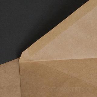 Коричневый крафт, 90 гр/м2, Треугольный клапан, Декстрин,