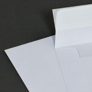 Белый офсет, 80 гр/м2, Прямой клапан, Лента, Квадратные, Подарочные