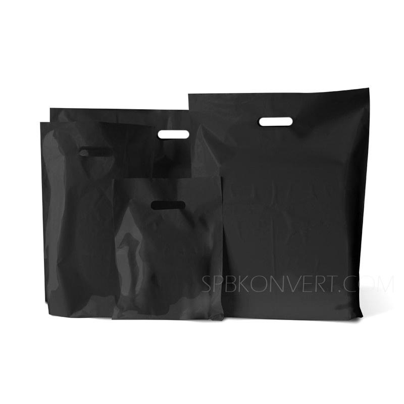 Пакет черный полиэтиленовый с вырубной ручкой купить кольцо фурнитура для сумок