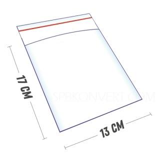 ПАКЕТ ПОЛИПРОПИЛЕНОВЫЙ 13х17+3 30мкм с клеевым клапаном