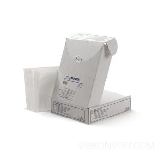 Формат С5. Вмещает лист А4, сложенный пополам. Упаковка 250 шт.