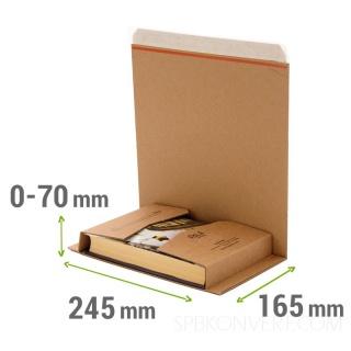 Изменяемая высота 0-7 см, отрывная лента для вскрытия, формат А5+