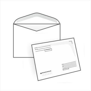 Белый офсет, 80 гр/м2, Автомат клапан, Декстрин, С подсказом Кому-Куда для автоматической упаковки
