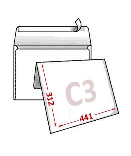 Белые конверты формат с3 312х441 мм